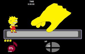 Lisa Simpson vs Master Hand by hmcvirgo92