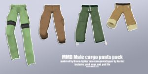 MMD male cargo pants pack+DL by Sefina-NZ