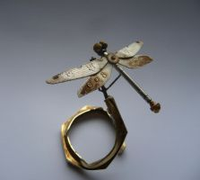 Clockwork Dragonfly (III) by AMechanicalMind