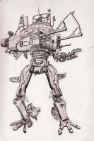 submersible walker 8 by scifieart10000