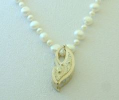 Rivets and Pearls Necklace by Vor4