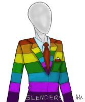 Slenderman in rainbow suit by sandra1328