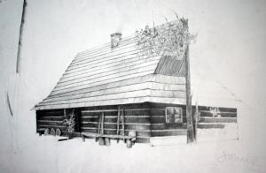 House, pencil drawing 50x70 by SoniaSh