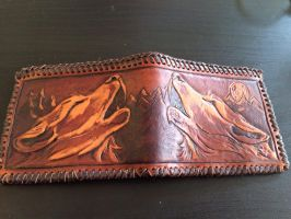 Finisher howling wolf wallet by Katiefiorito