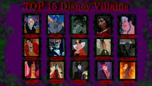 Top 15 Disney Villains Meme by PurfectPrincessGirl