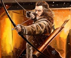 iPad painting of Bard the Bowman by chaseroflight