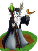 Merlin the wizard by OrionTHedgehog