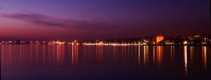 Thessaloniki Night Scape by scottevil