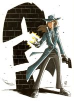 Renee Montoya as The Question by OtisFrampton