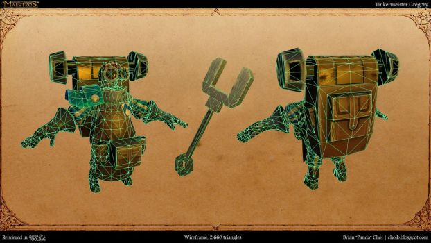 Teutonian Tinkermeister Gregory Wireframe by PandaProduction