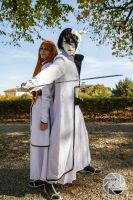 Ulquiorra and Orihime Cosplay 2 by Asteria91