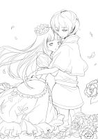 Sound Horizon_ Prince and Snow White_LineArt by noDuckiEallow