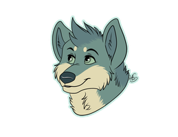 quick headshot for Riley-The-Husky by Miss-Melis