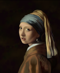Girl with Pearl Earring - digital painting by Giselle-M