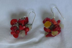 Crocheted Earings by CataCata23