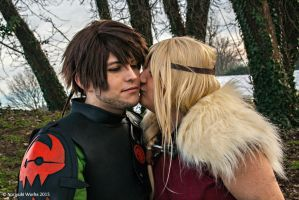 Astrid and Hiccup sweet moment_ by JamieCool