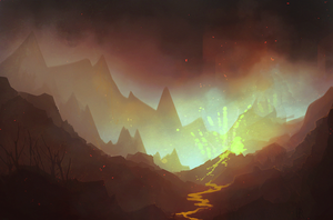 this fiery mountain on which you will die by vjorgen