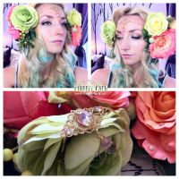 DYI Art Nouveau Headdress by Lillyxandra
