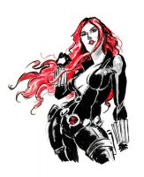 Sketch jam - Black Widow by mistermoster