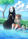 Chihiro and No-Face by Mikoele