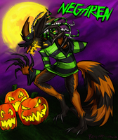 Pumpkin Ferxes by Rosemary-the-Skunk