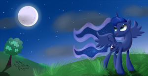 Walking in the moonlight night by DimetraPaywer