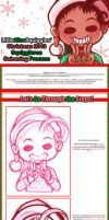 .:Christmas 2013 Squiggleroo Colouring Process .: by LittleMissSquiggles