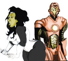 Ironman and Madame Masque by losman126