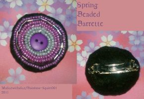 Hand-beaded Barratte: Spring by Rainbow-squirt001