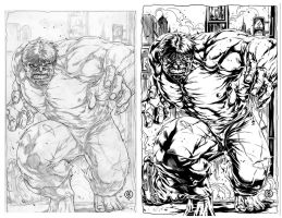 HULK INKED by caananwhite