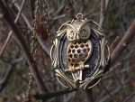 Guardian owl necklace steampunk by Hiddendemon-666
