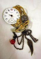 M.o.t TimeTraveller brooch by Gothic-Enchantress