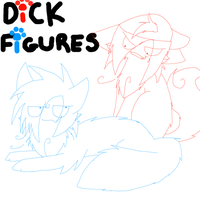 Dick Figures:Red and Blue as kitties by ZippoTehArtist