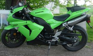 Kawasaki Ninja Lime Motorcycle by FantasyStock