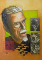 Portrai of M. C. Escher by Stinoga