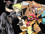 Cloud in Super Smash Bros 4!! by AlSanya
