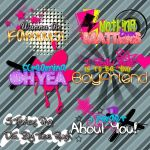 Pack 5 Text png Of BTR by DivasWorld