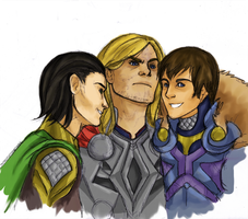 The Odinsons. by wintercaptain