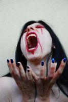 Me fake blood vampire by SilvieT-Stock
