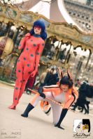We will protect Paris ! Ladybug and Volpina by Aure-magik
