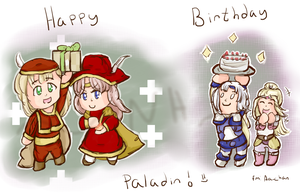 :GA: 'Happy Birthday Paladin!' by nintendohime