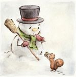 Snowman by DreamsOfALostSpirit