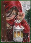 Home for the Holidays-ACEO by Katerina-Art