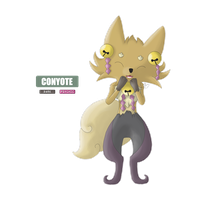 Fakemon - Conyote by cryptik-romeo