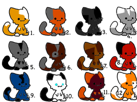 Warrior cat adoption FREE (closed) 2 by Amberdappel11