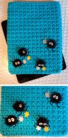 Soot Sprite iPad Sleeve by Brookette