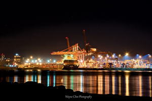 Port of Vancouver by Night by wayner8088