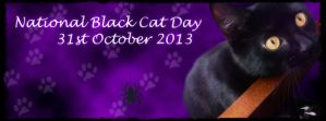 National Black Cat Day Facebook Banner by LacedShadowDiamond