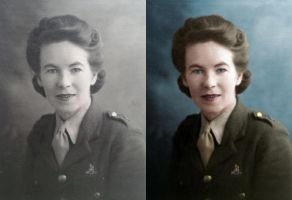 Leslie Morgan WLA Pay Corp 1942 - before after by B-D-I