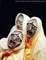 Greek tragedy masks by Alyssa-Ravenwood